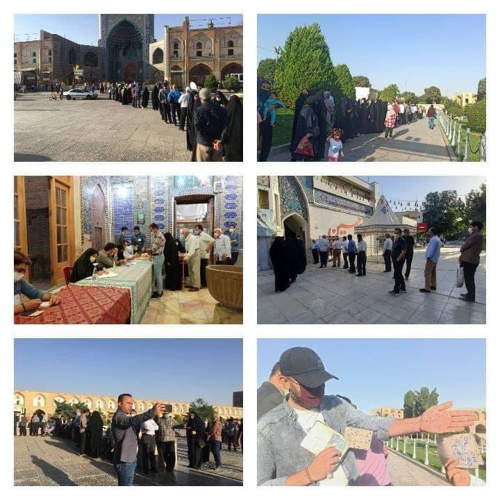 مردم اصفهان در شعب اخذ رای از ابتدای صبح