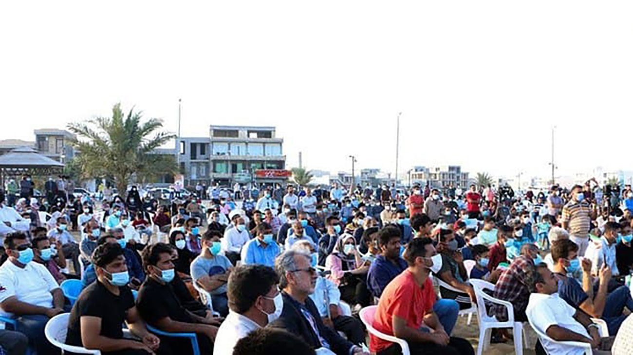 میتینگ+سیاسی+احمدی+نژاد+در+ساحل+بوشهر