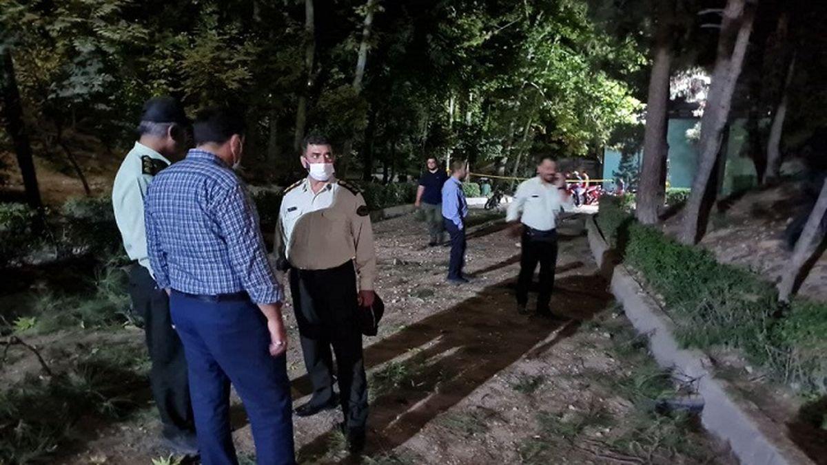صدایی مهیب در شمال غرب تهران / انفجار یک شیء ناشناس در پارک ملت