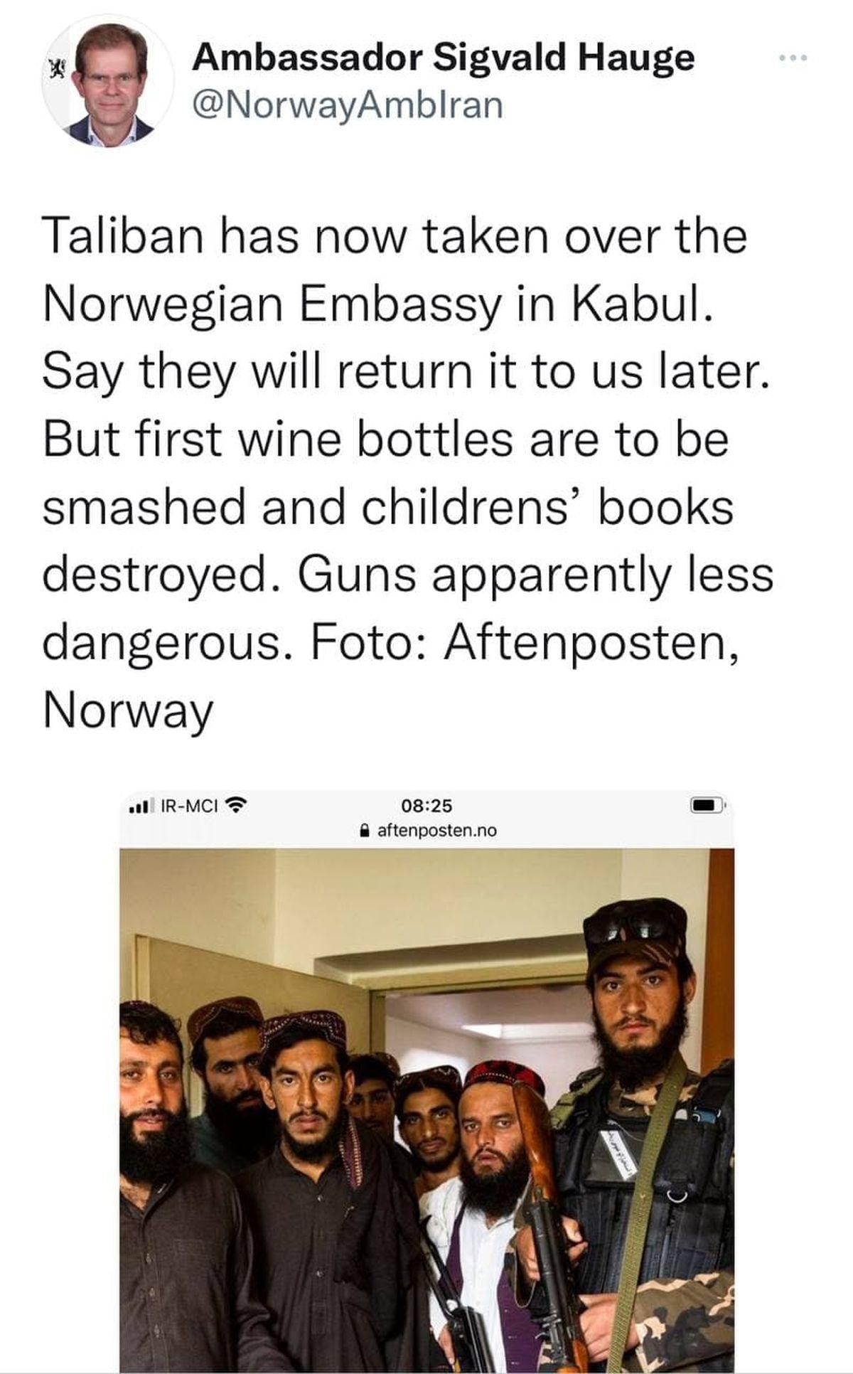 حمله و اشغال سفارت نروژ در کابل توسط طالبان