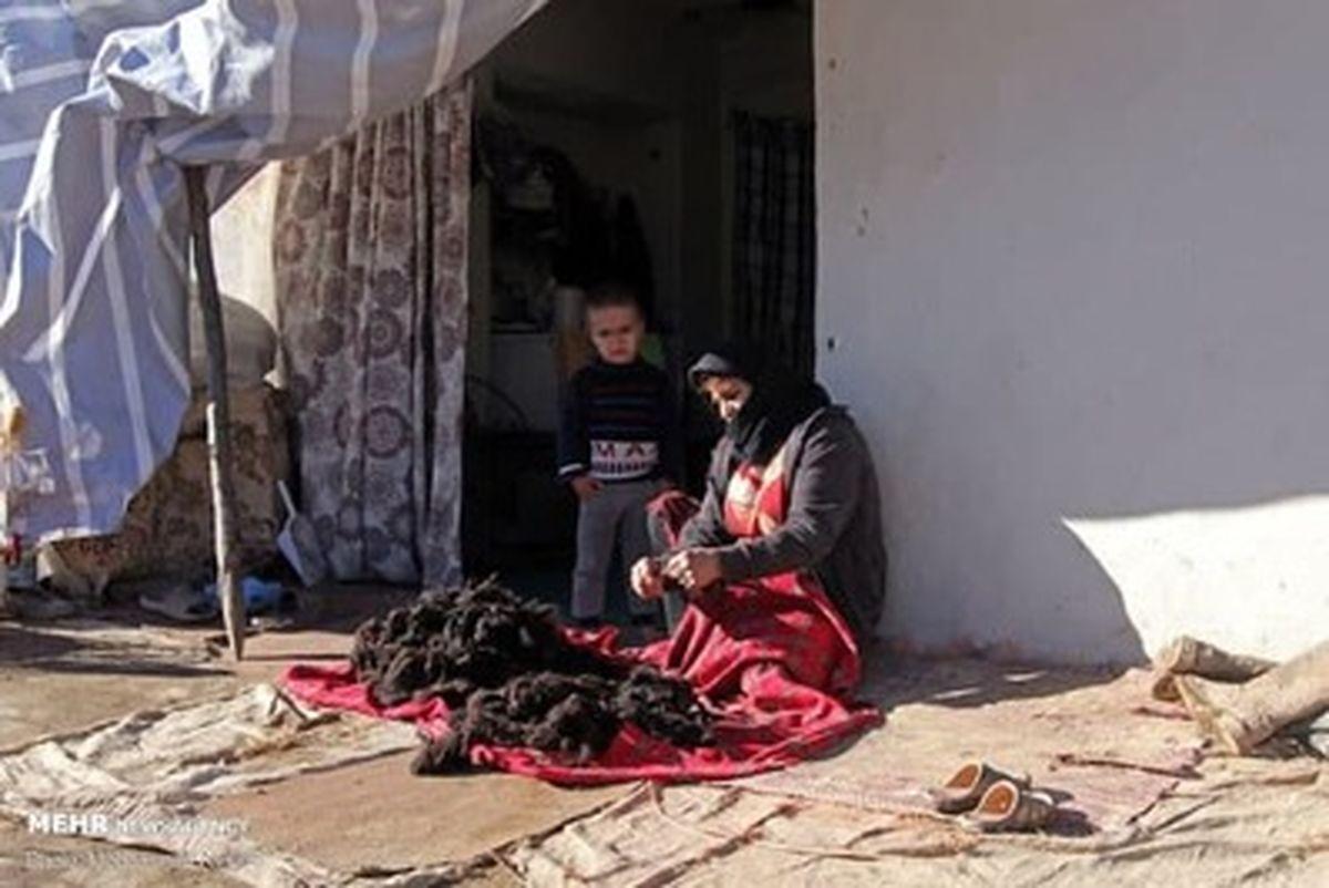 چادرنشینی زلزله زدگان رامیان گلستان در برف زمستان +عکسها