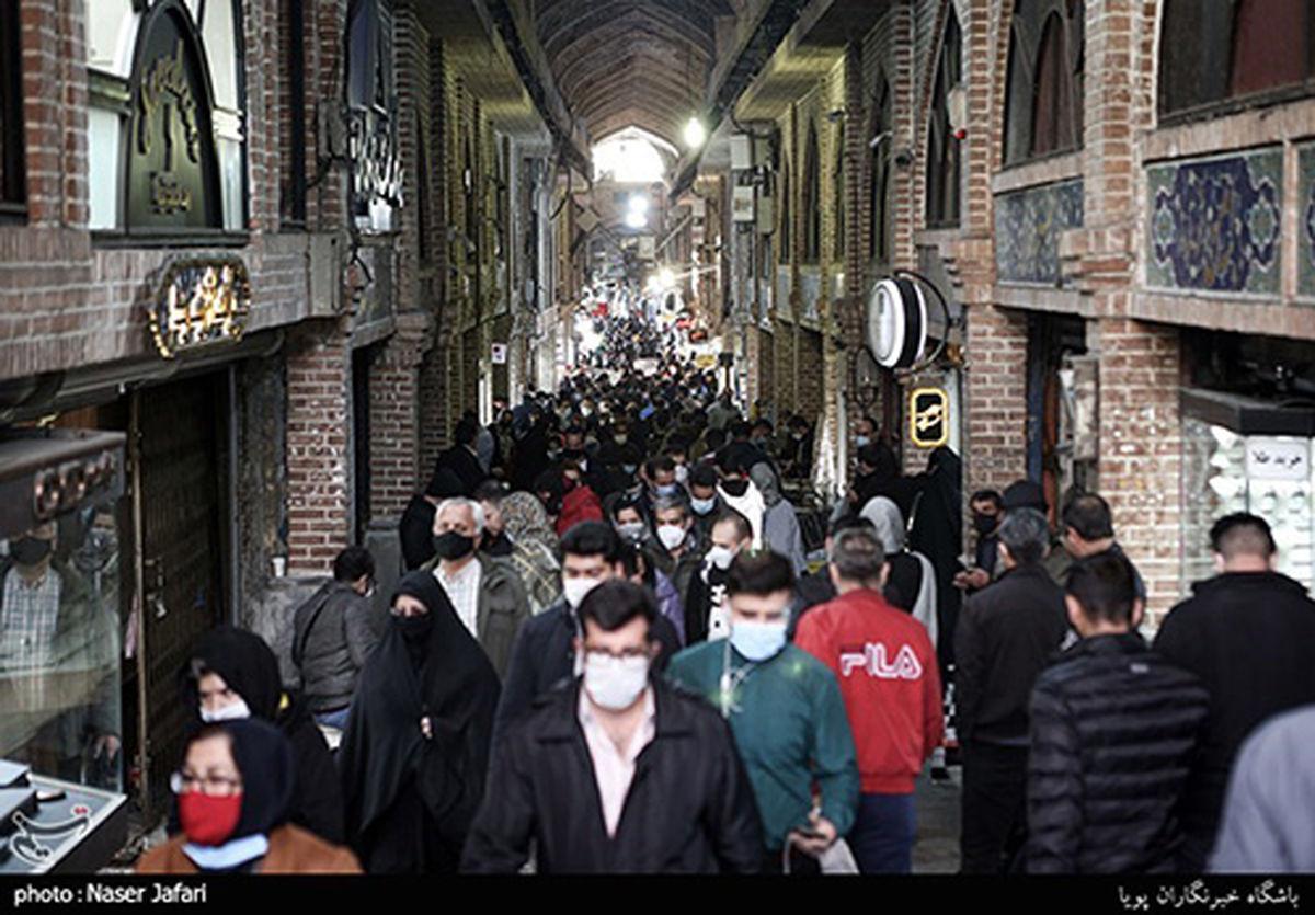 بازار تهران در روزهای کرونایی پایان سال+عکسها