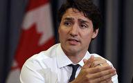 نخست وزیر کانادا سنگباران شد