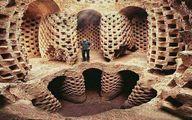 تصویر حیرت انگیزترین کبوترخانه ایران در گاوخونی