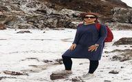 عکس کمتردیده شده هانیه توسلی با پوششی متفاوت