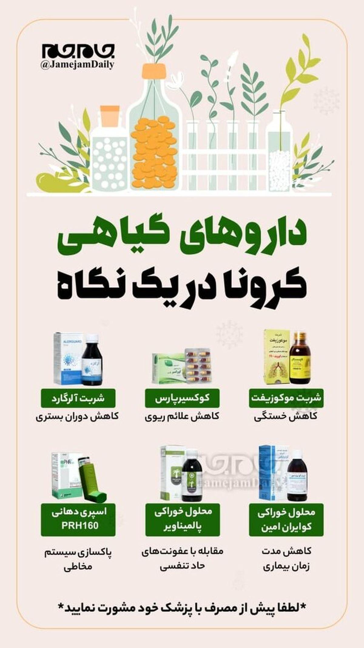 داروهای گیاهی درمان کرونا؛عکس
