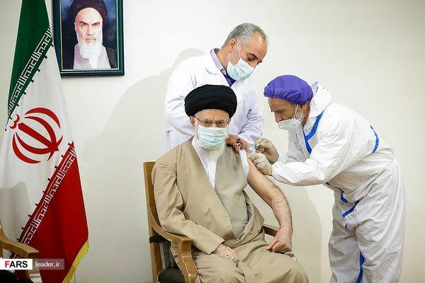 دریافت واکسن ایرانی کرونا توسط رهبر انقلاب(گزارش تصویری)