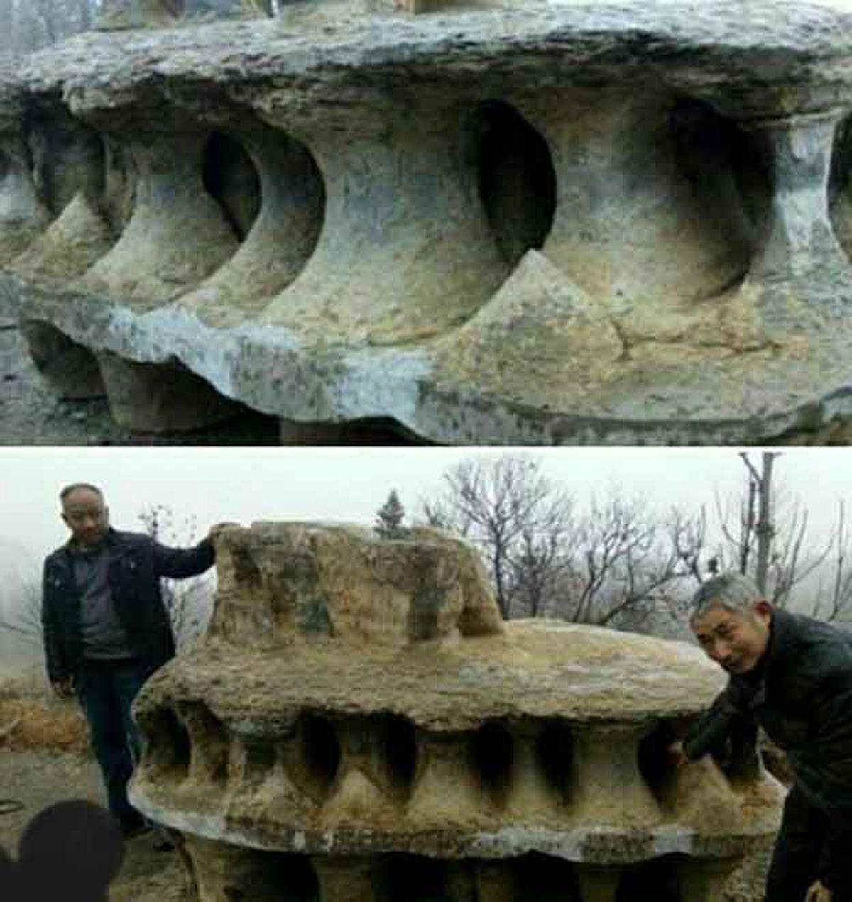 کشف صخرهایی عجیب به شکل سفینه فضایی