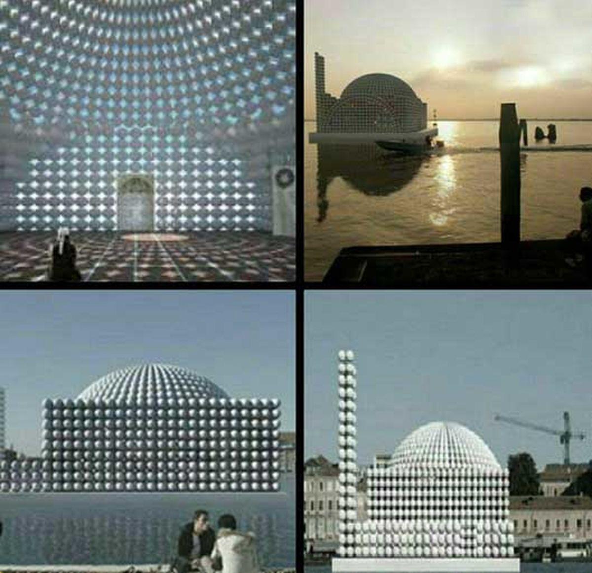 تصاویر یکی از عجیب ترین مساجد جهان.
