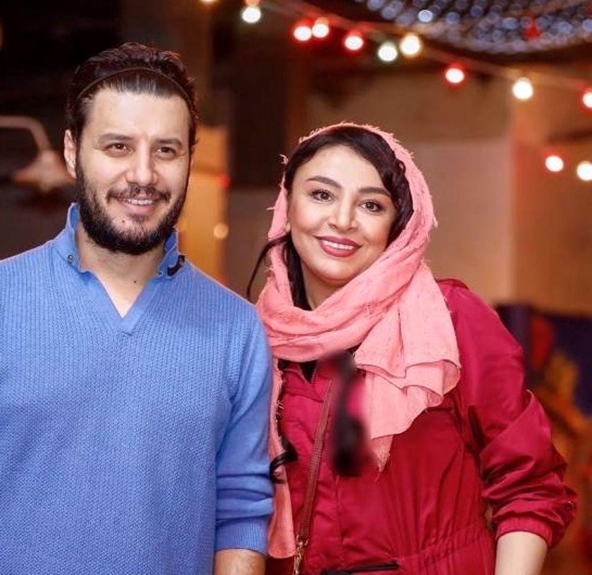 عکس دیده نشده از جواد عزتی و همسرش در پشت صحنه زخم کاری