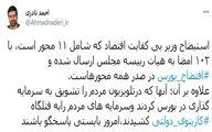 توئیت تند و توهین آمیز نماینده مجلس درباره استیضاح وزیر اقتصاد + توئیت