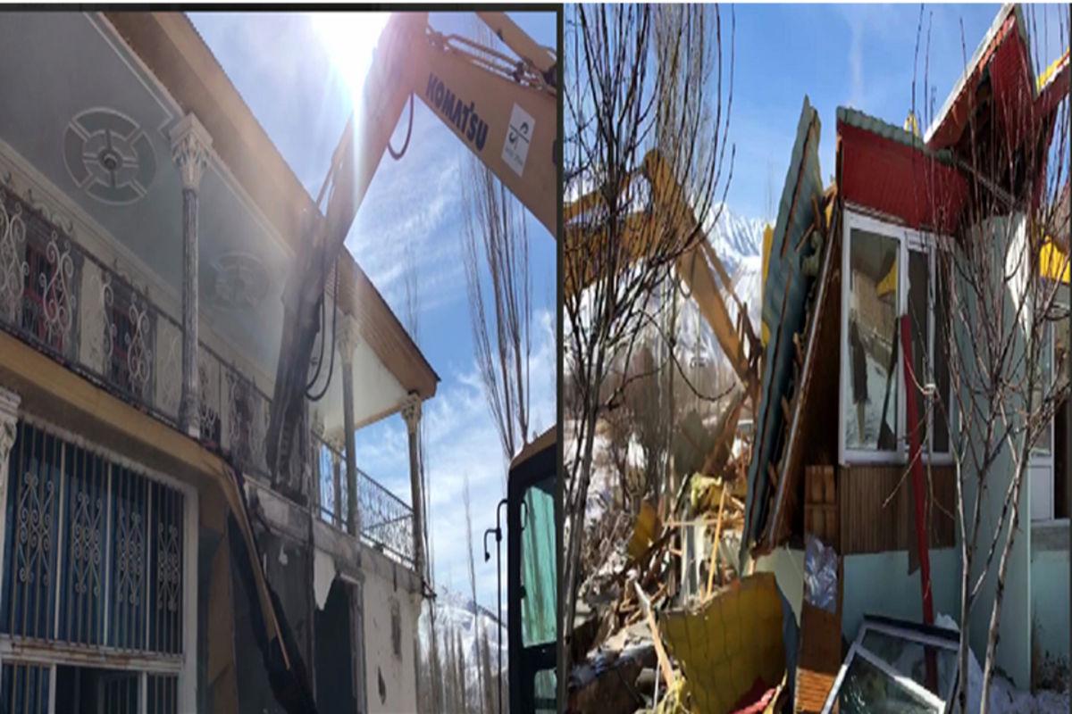 تخریب ویلای میلیاردی دو مسئول در فیروزکوه + عکس