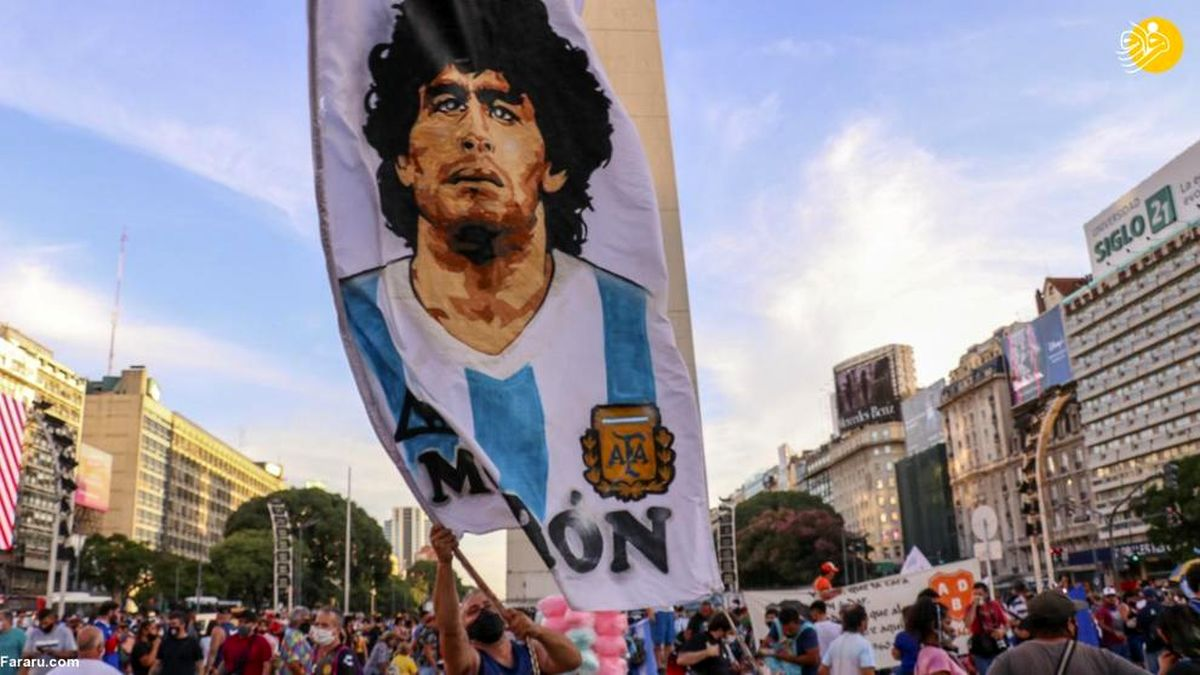 تظاهرات برای روشن شدن ابهامات پرونده مرگ مارادونا+عکسها