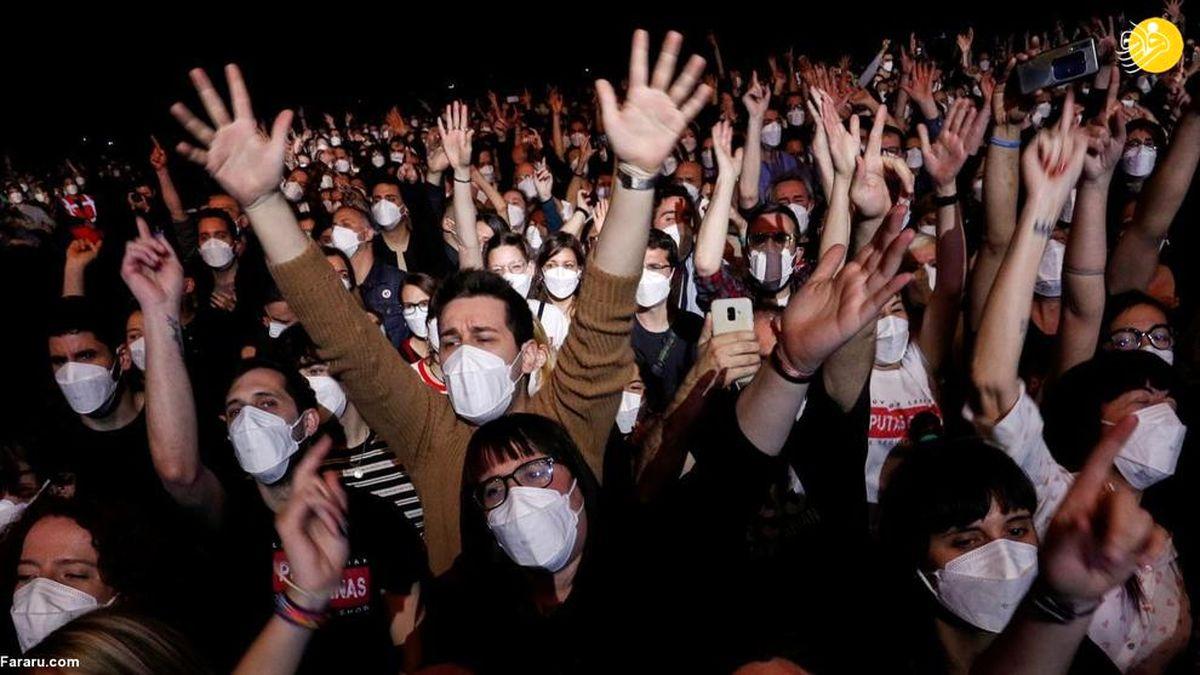 تصاویر دیده نشده از برگزاری کنسرت برای اولین بار در اسپانیا