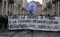 ضربوشتم معترضان ضددولتی توسط پلیس ایتالیا/ تصاویر