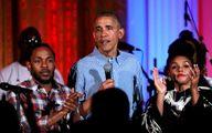 آوازخوانی اوباما در جشن تولد دخترش +عکس