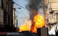 تصاویری از انفجار خط لوله گاز در اسلامشهر