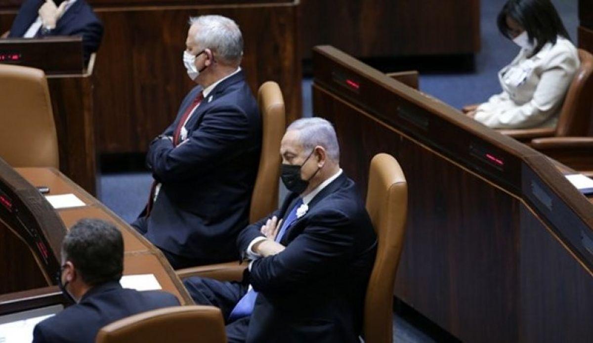 ادامه بحران در رژیم صهیونیستی؛ فریادهای نتانیاهو و گانتز بر سر یکدیگر در کابینه