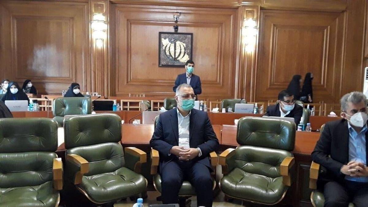 عکس علیرضا زاکانی در جلسه شورای شهر تهران