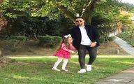 شاهرخ استخری همراه دخترش پناه