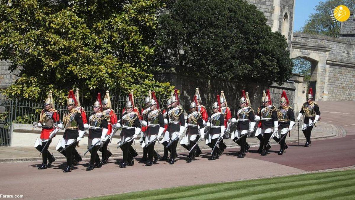 تصاویر دیده نشده از مراسم خاکسپاری همسر ملکه انگلیس