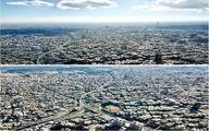 نمایی از هوای پاک تهران از ارتفاع ۵۰۰ متری/ عکس