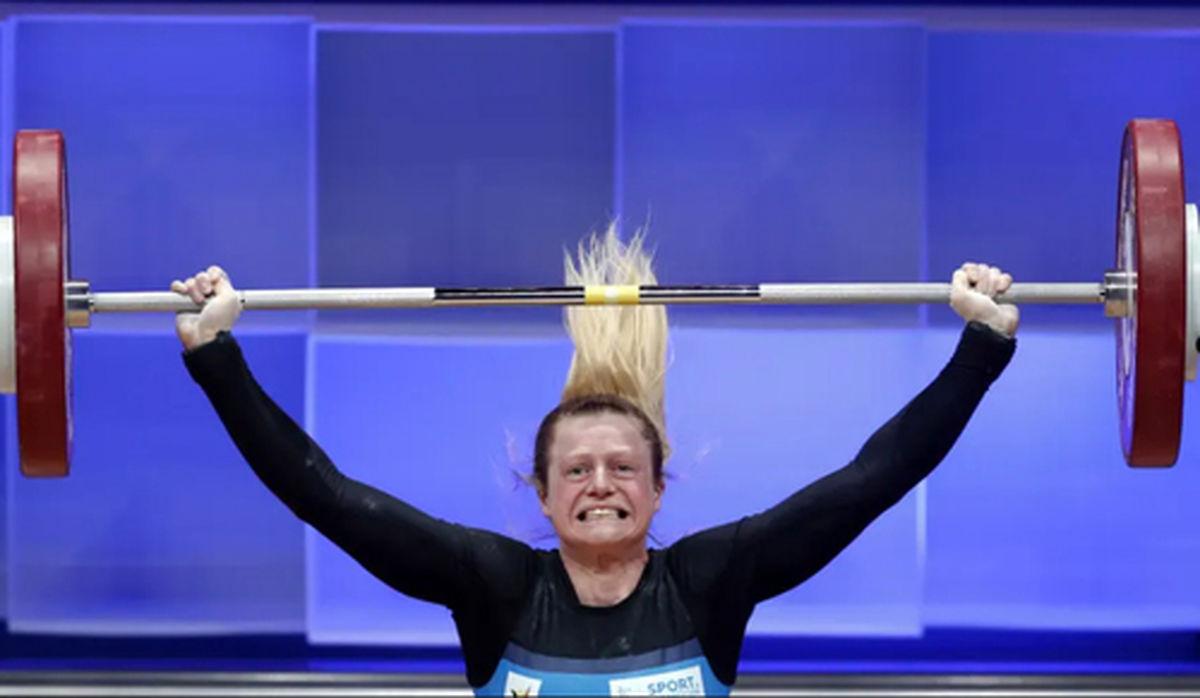 عکس خفن از رقابت های وزنه برداری قهرمانی اروپا در شهر مسکو روسیه