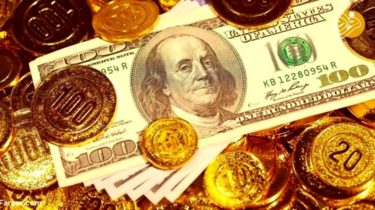 کاهش قیمت سکه، قیمت طلا و قیمت دلار امروز 24 دی ماه + جدول