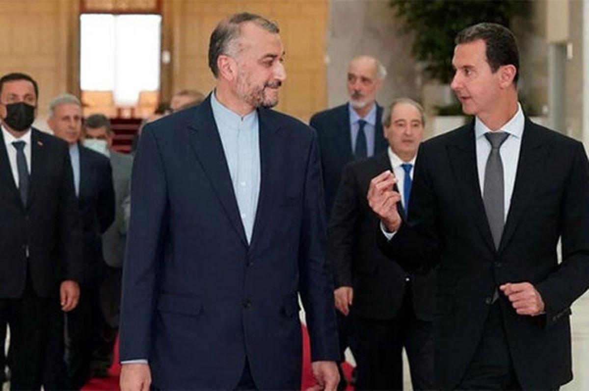 لحظه ای کوتاه از دیدار امیرعبداللهیان با بشار اسد