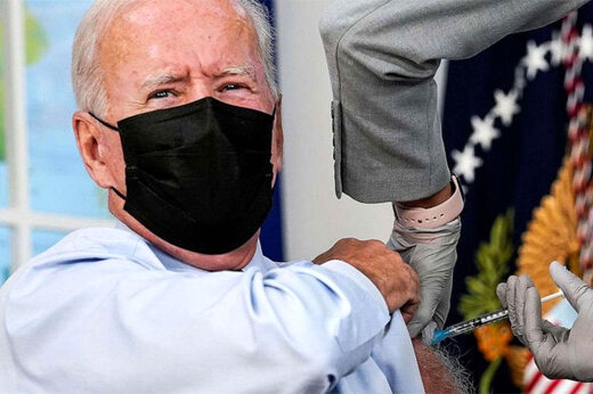 جو بایدن برای سومین بار واکسن کرونا زد