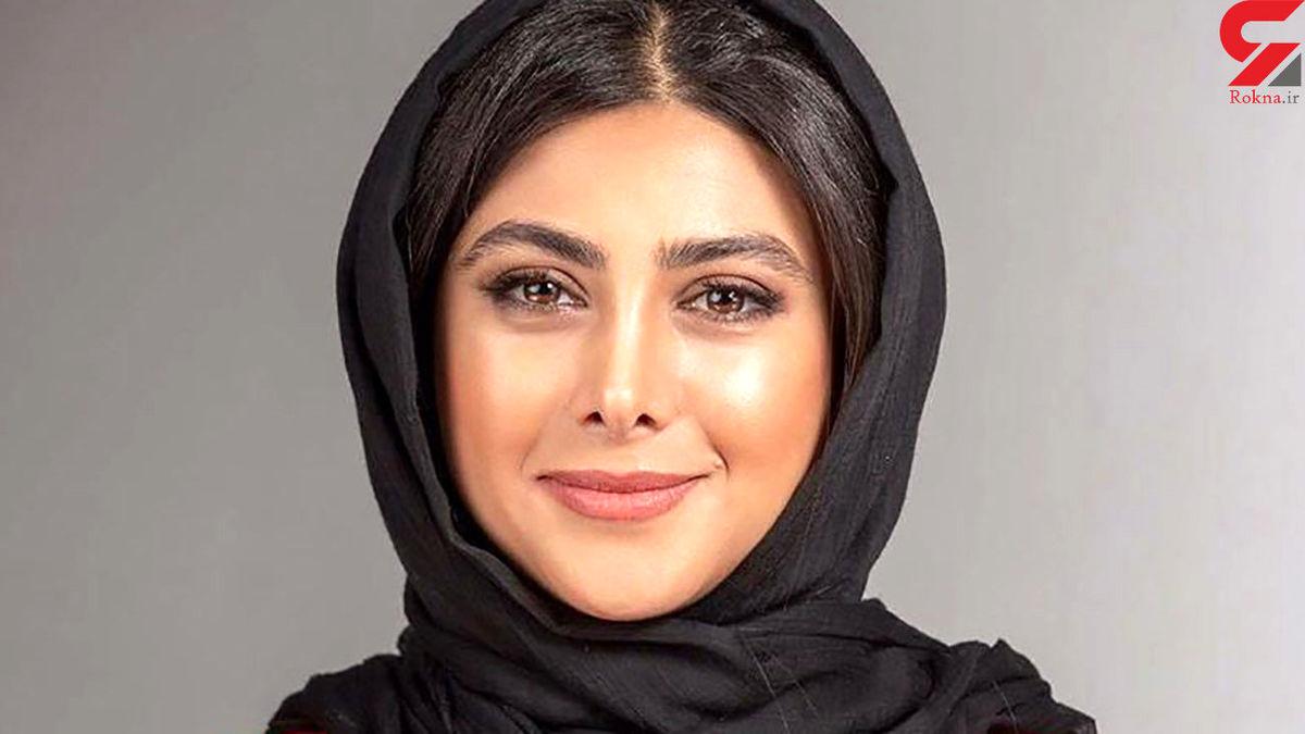 آزاده صمدی با لباس راحتی در خانه اش + عکس