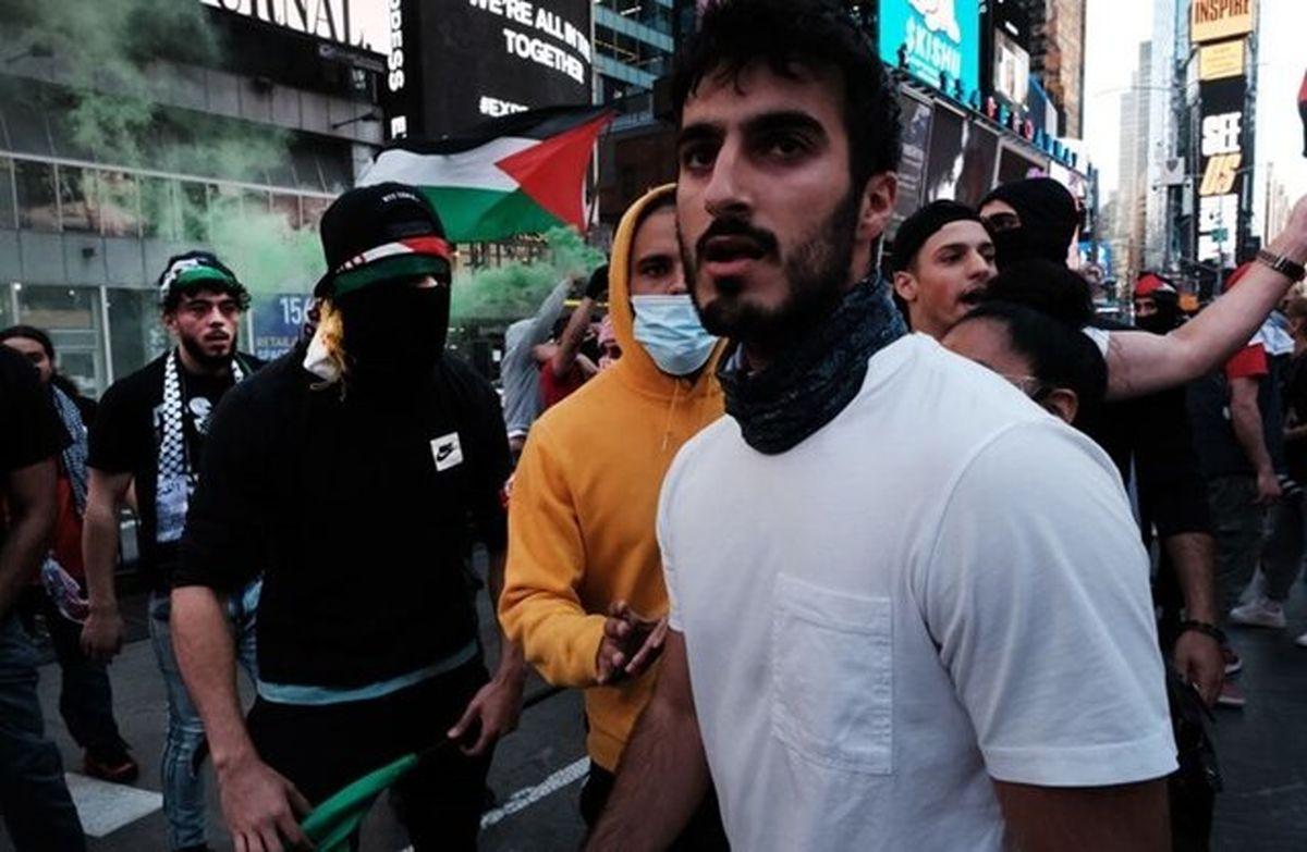 درگیری حامیان فلسطین و رژیم صهیونیستی در آمریکا