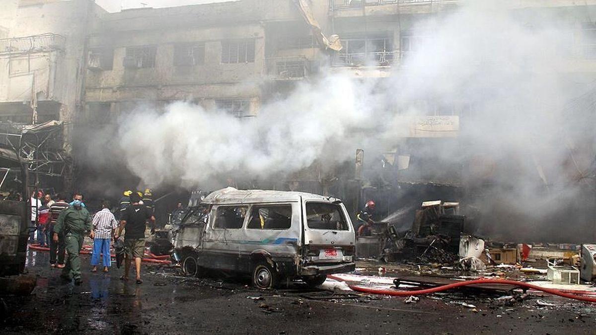 لحظه انفجار بیمارستان بغداد با ۸۲ کشته را ببینید|فیلم