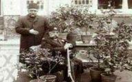 عکس نایاب مظفر الدین شاه در ژرژیک نخستین گل فروشی تهران