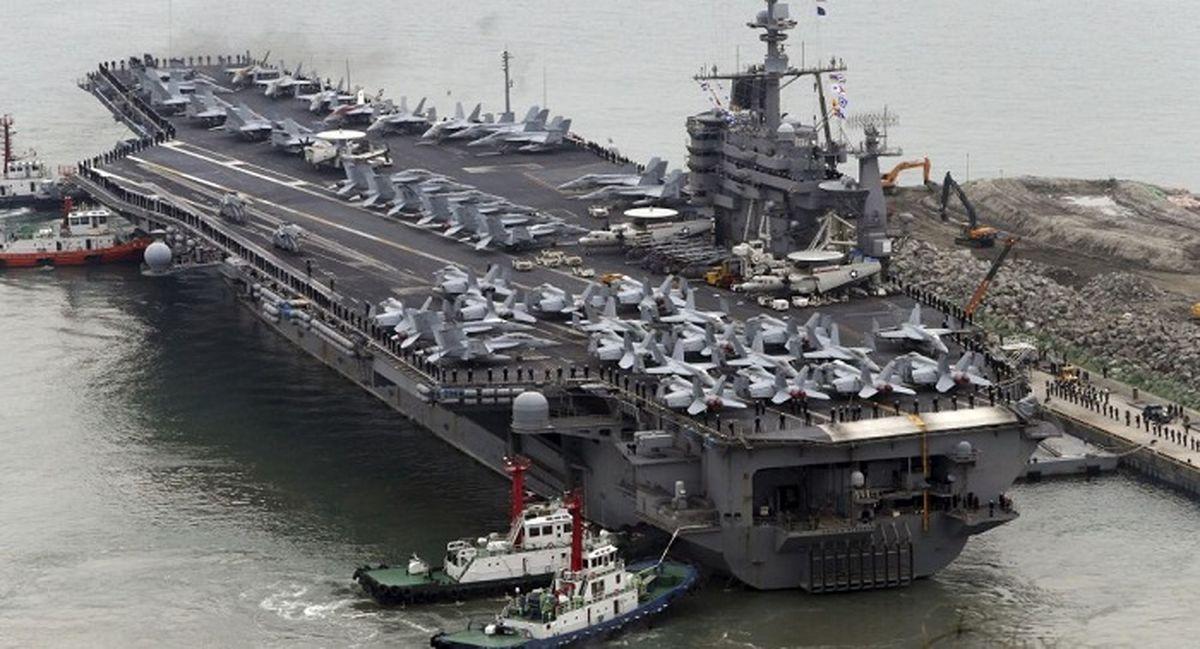 ورود ناو هواپیمابر هستهای آمریکا به خاورمیانه! + جزئیات