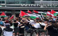 فیلم اختصاصی از اعتراض و حمایت از غزه در کانادا