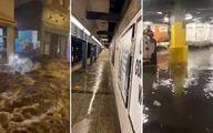 فرودگاه نیویورک غرق در آب