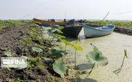 تصاویر فاجعه در تالاب انزلی