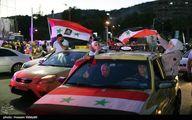 تصاویر جشن و پایکوبی مردم سوریه بعد از پیروزی بشاراسد