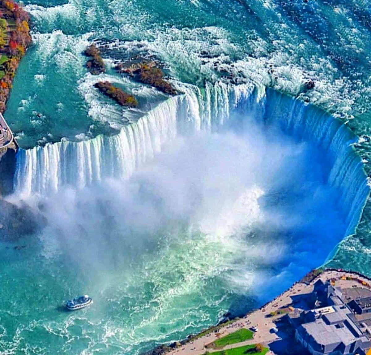 تصویر هوایی از آبشارهای نیاگارا