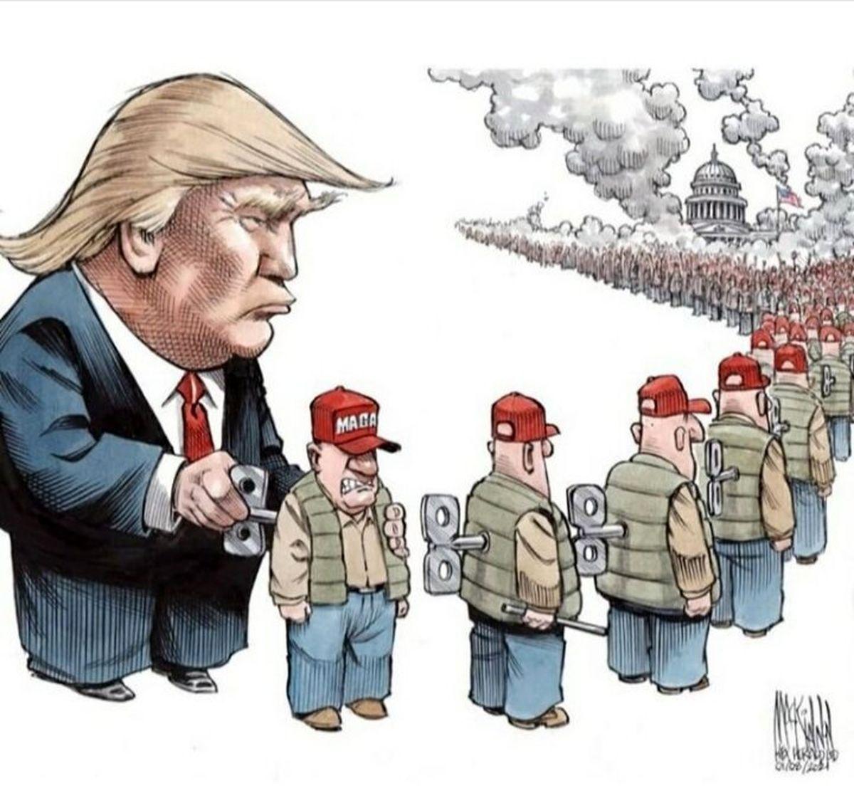 خرابکاری جدید ترامپ چیست؟ +کاریکاتور