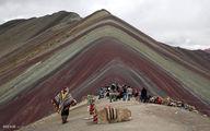 تصاویری دیدنی از کوه رنگین کمان در پرو