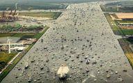 عجیب اما واقعی؛ ترافیک کشتی و قایقها در آمستردام/عکس