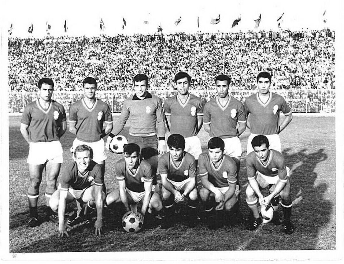 تصویر دیده نشده از تیم ملی فوتبال ایران در دهه چهل
