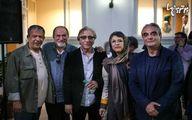 عکس دسته جمعی بزرگان سینما در یک مراسم دولتی