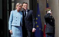 لباس اجاره ای همسر رئیس جمهور فرانسه در الیزه/عکس