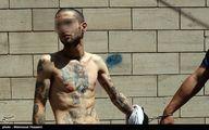 خالکوبی های منشوری یک ارازل و اوباش دستگیر شده!/عکس