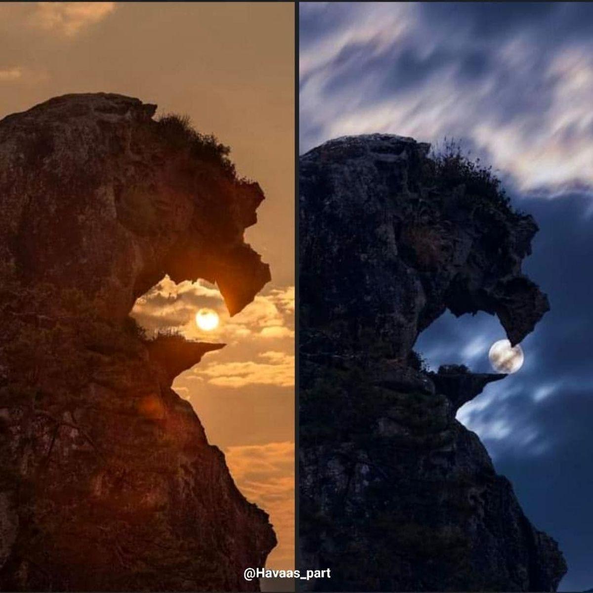عکس دیده نشده و خفن از صخرهی شیر در ژاپن