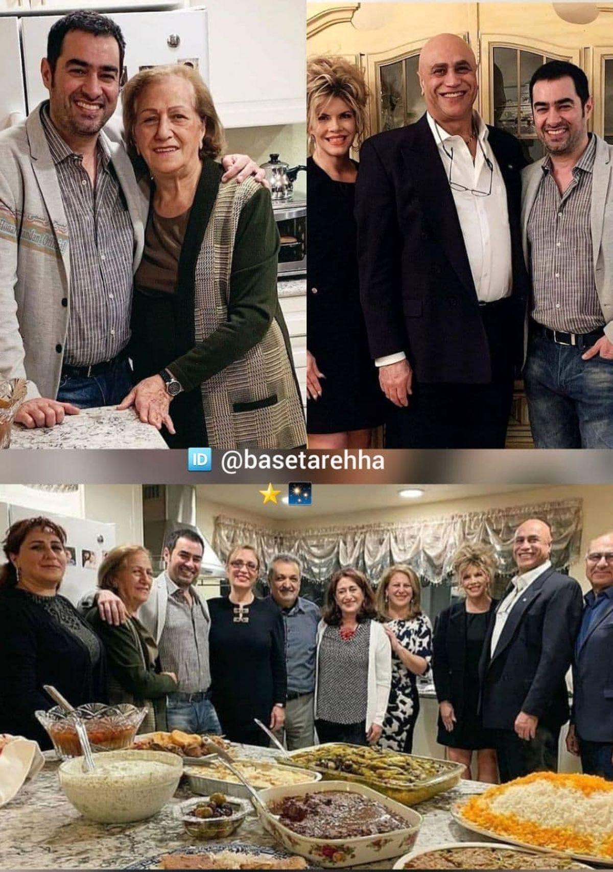 عکس دیده نشده از شهاب حسینی کنار خانواده اش در آمریکا