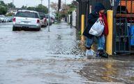 آبگرفتگی خیابانهای لسآنجلس / عکس
